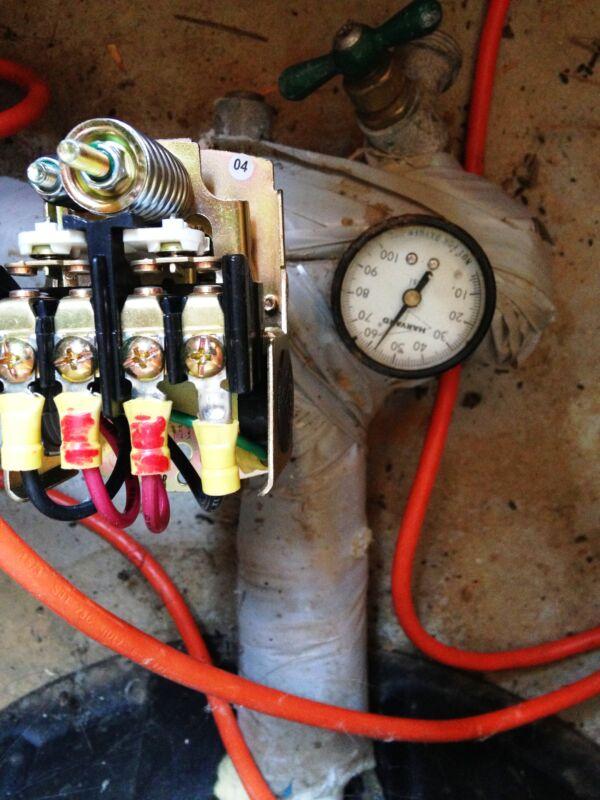 Pressure switch open