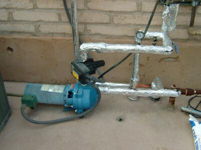 Booster pump insulation